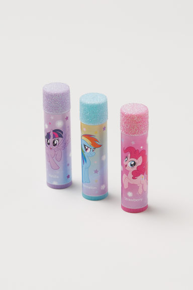3-pack flavoured lip balms - Pink/My Little Pony - Kids | H&M