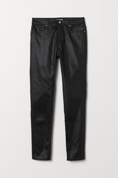 Trousers Skinny Fit - Black/Coated - Ladies | H&M CN