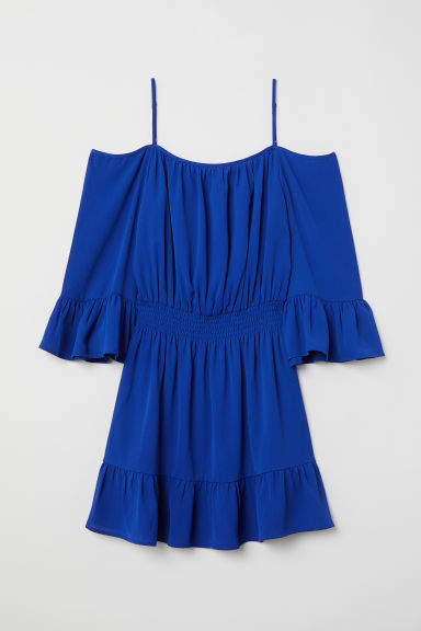 Cold shoulder dress - Cornflower blue - Ladies | H&M