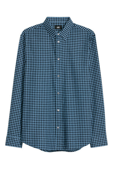 Camicia in cotone Regular fit - Blu/quadri -  | H&M IT