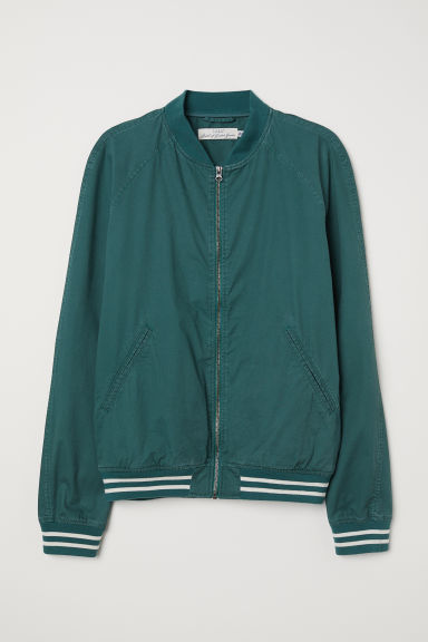 Cotton bomber jacket - Green -  | H&M