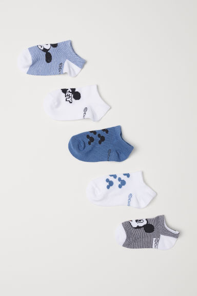 5-pack trainer socks - Blue/Mickey Mouse -  | H&M CN