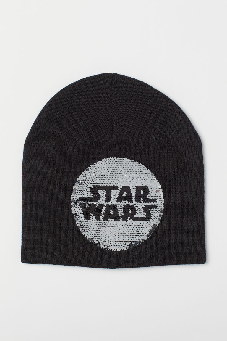 Hat with reversible sequins - Black/Star Wars - Kids | H&M IE