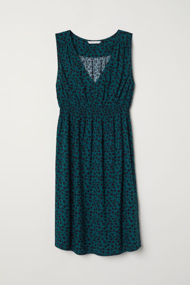 MAMA Sleeveless dress - Dark turquoise/Patterned - Ladies | H&M