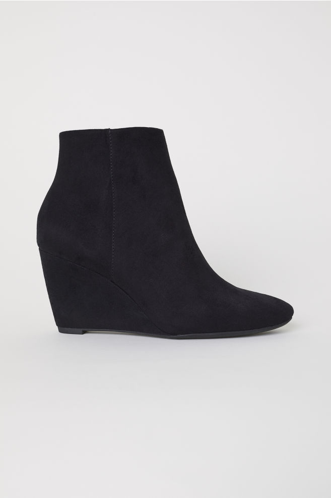 b35a6f5a0c69 Wedge-heel Boots - Black - Ladies