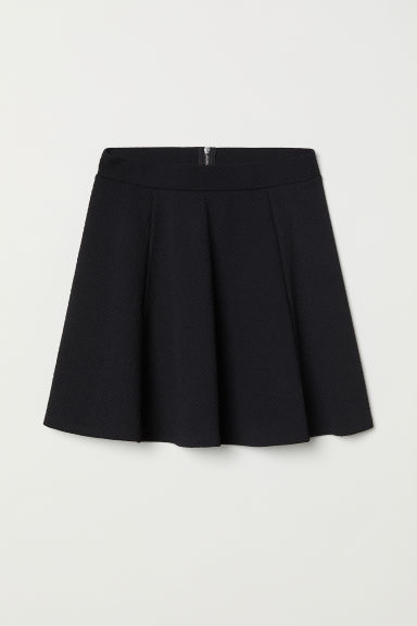 Skater skirt - Black/Textured -  | H&M