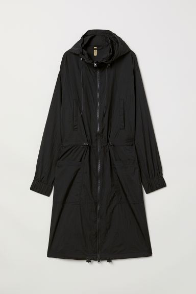 Long parka - Black -  | H&M CN