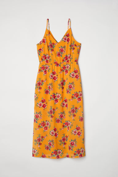 H&M+ Maxi dress - Yellow/Floral - Ladies | H&M