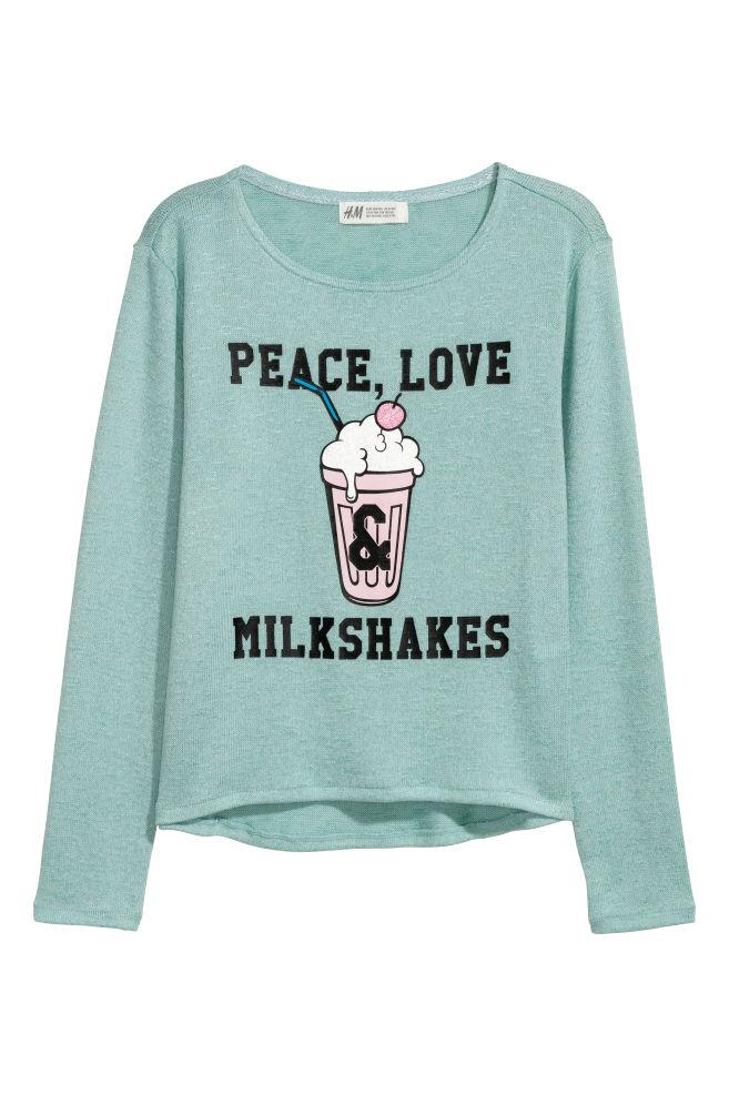 a3ff09358 Fine-knit printed jumper - Turquoise Milkshakes - Kids