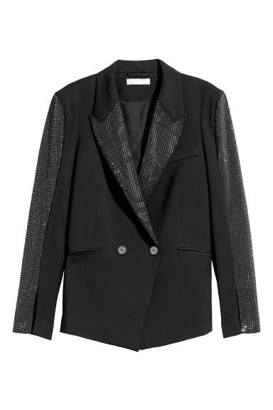 Jacket with sparkly studs - Black - Ladies | H&M