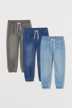 Joggers in denim, 3 pz