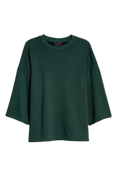 Oversized T-shirt - Dark green - Men | H&M