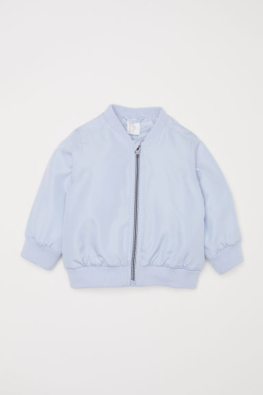 Padded bomber jacket - Light blue - Kids | H&M