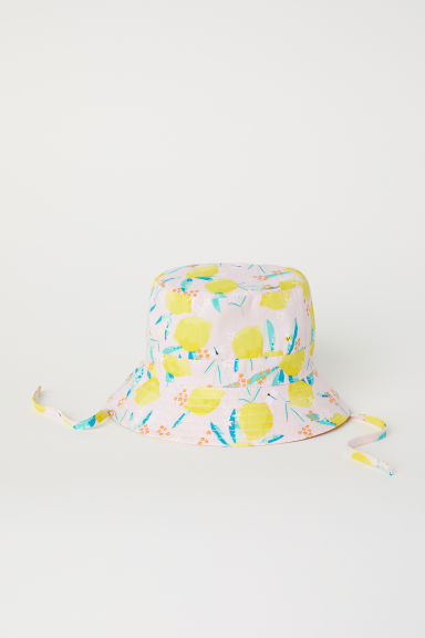 Sun hat - Light pink/Lemons -  | H&M
