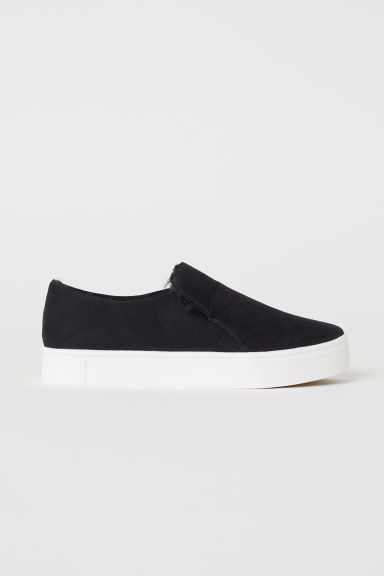 Warm-lined slip-on trainers - Black - Ladies | H&M CN