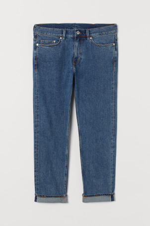 Slim Cropped Selvedge Jeans