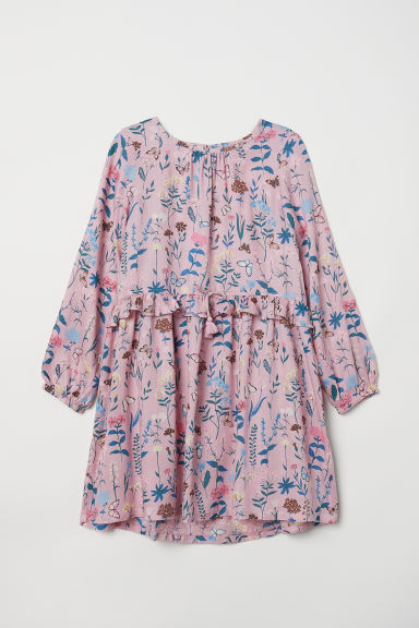Patterned dress - Old rose/Floral -  | H&M