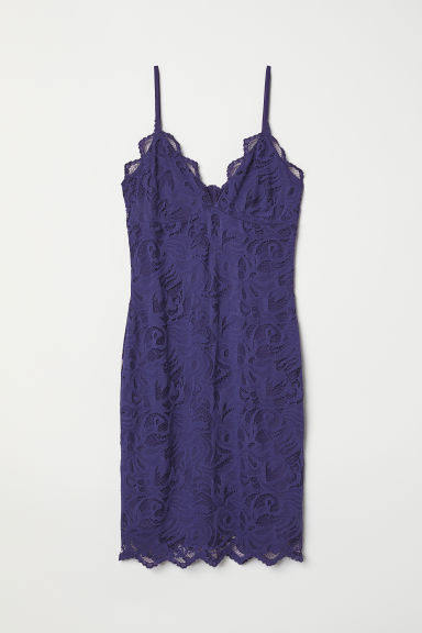 Lace dress - Dark indigo - Ladies | H&M GB