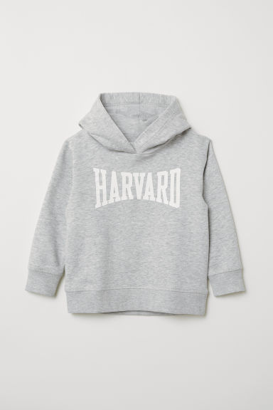 Hooded top - Grey marl/Harvard - Kids | H&M