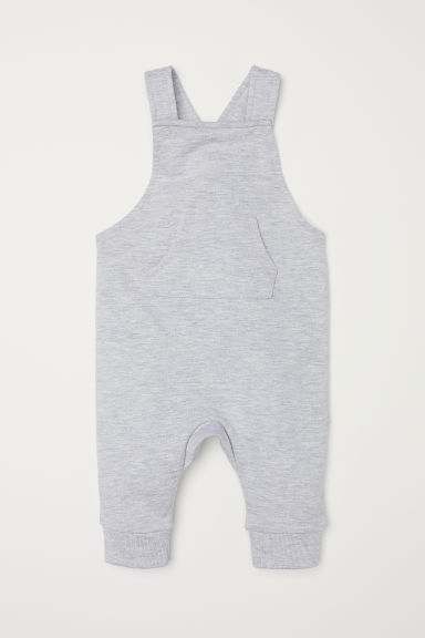 Cotton dungarees - Grey marl - Kids | H&M IN