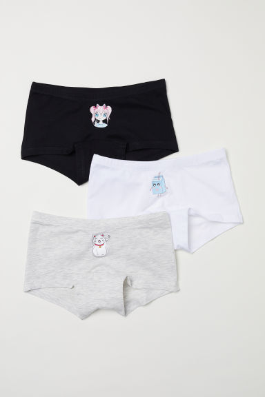 3-pack boxer briefs - White/Manga - Kids | H&M
