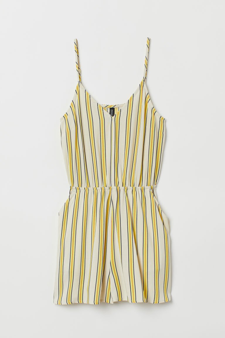 Playsuit - Natural white/Striped -  | H&M IE