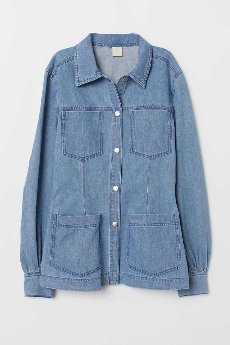 super popular 7dad8 7aedf Camicia jeans maniche a sbuffo