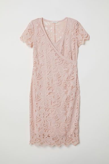 MAMA Lace nursing dress - Powder pink -  | H&M CN