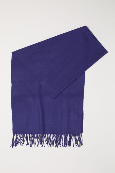 Wool scarf - Purple - Ladies | H&M CN