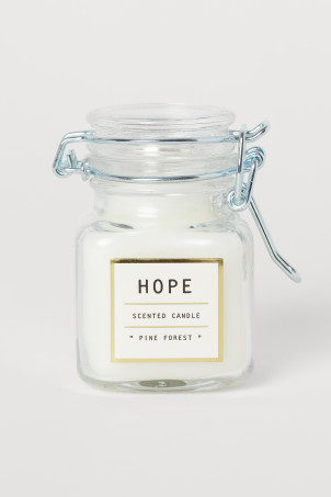 Small Candle in Glass Jar