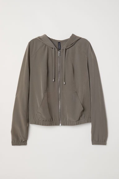 Hooded jacket - Khaki green - Ladies | H&M