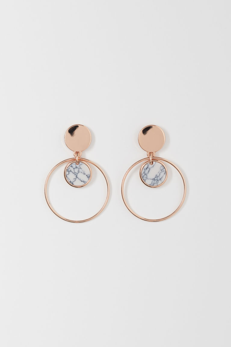 Earrings - Rose gold-colored - Ladies | H&M CA