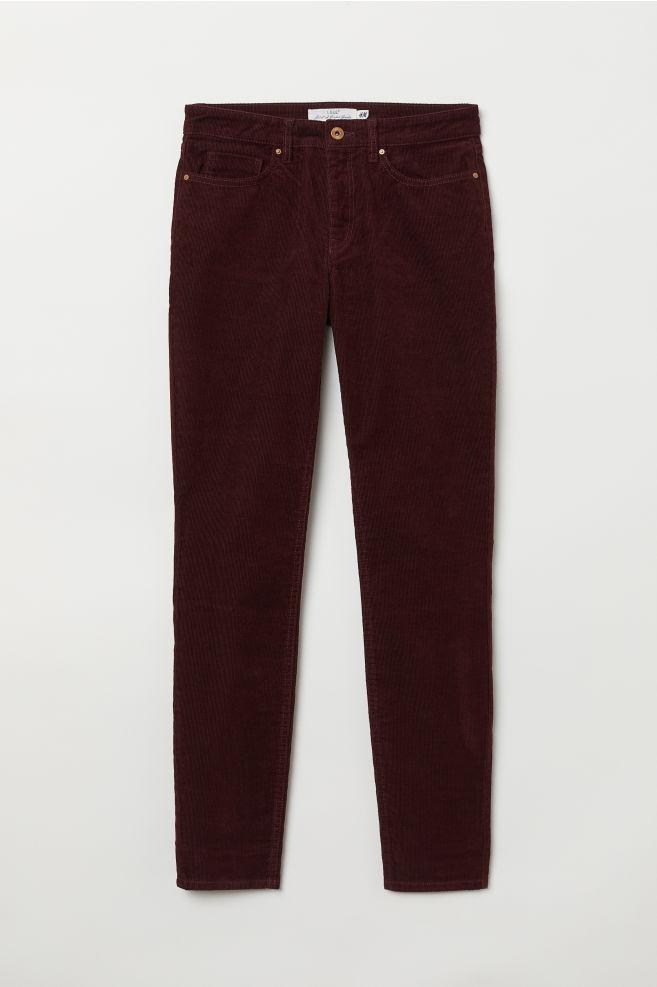 ab5560ab5 Pantalón de pana - Burdeos - MUJER