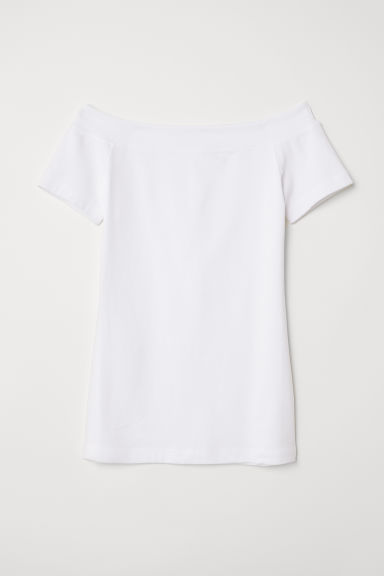 Off-the-shouldertop - Wit - DAMES | H&M BE
