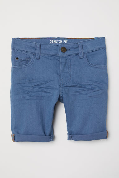 Knee-length twill shorts - Blue - Kids | H&M CN