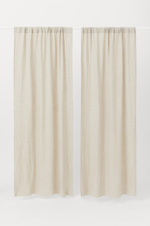 2-pack linen curtain lengths