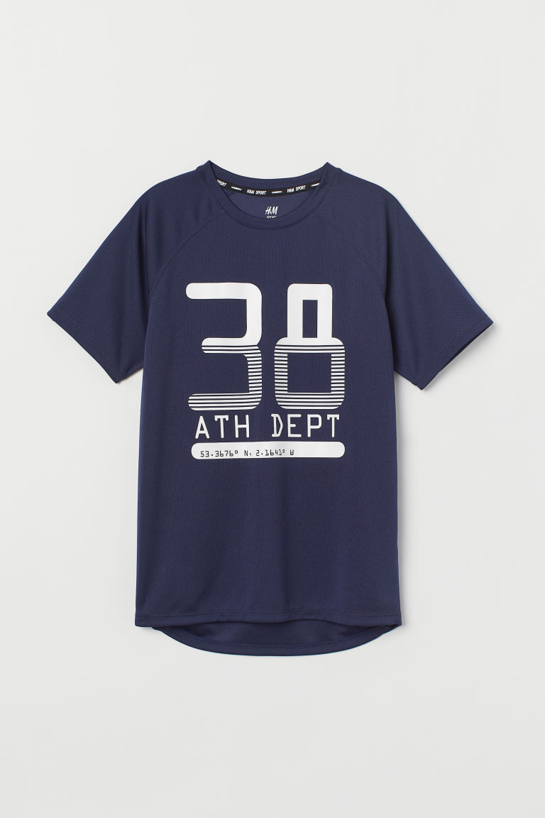 Sports top - Dark blue/38 - Kids | H&M CN