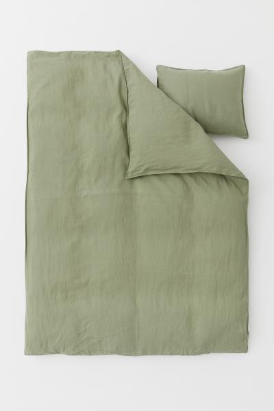 H&M - Funda nórdica en lino lavado - 2