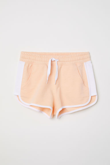 Shorts with side stripes - Apricot - Kids | H&M CN