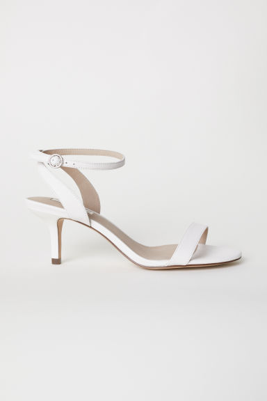 Leather sandals - White - Ladies | H&M