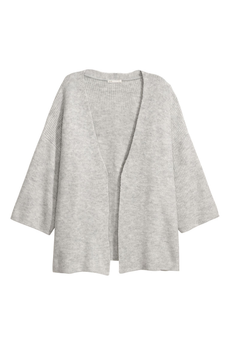 Cardigan - Light grey marl - Ladies | H&M CN