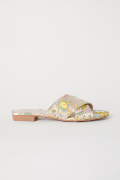 Sandals - Powder pink/Floral -  | H&M
