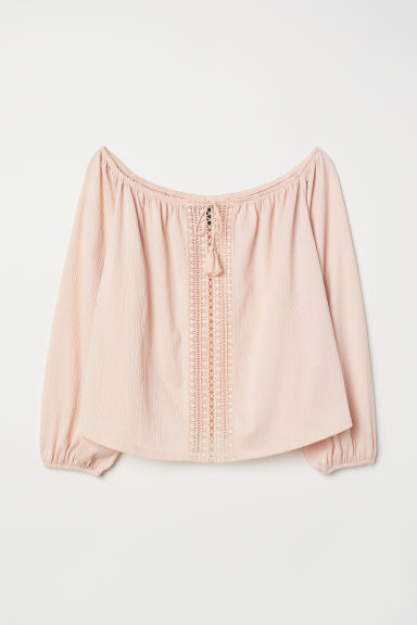H&M+ Top a spalle scoperte - Rosa cipria - DONNA | H&M IT