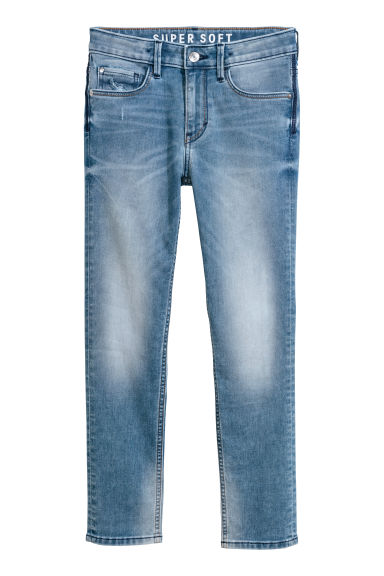 Super Soft Skinny Fit Jeans - Denimblauw - KINDEREN | H&M BE