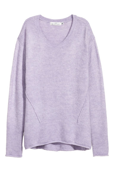 Knitted jumper - Light purple - Ladies | H&M