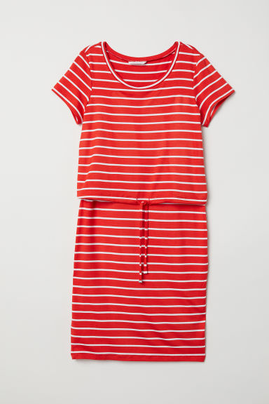 MAMA Nursing dress - Red/Striped - Ladies | H&M CN