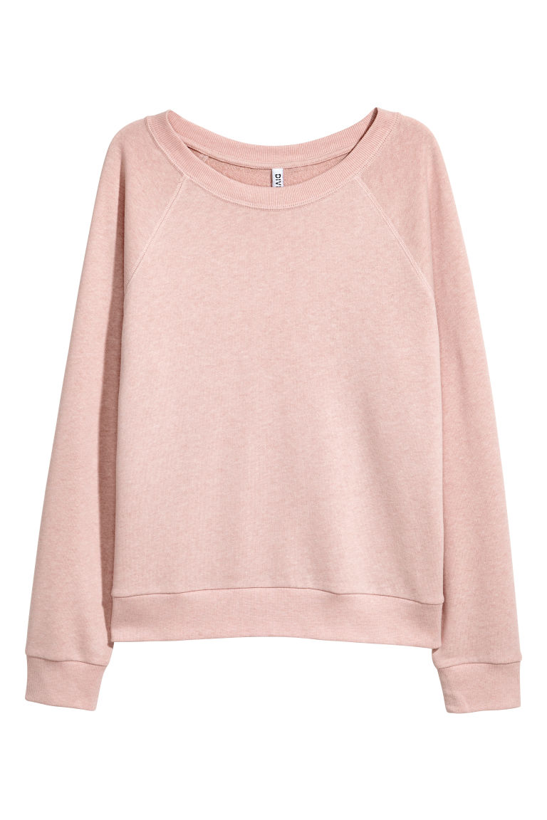 Sweatshirt - Powder pink - Ladies | H&M GB