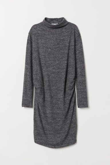 MAMA Fine-knit dress - Dark grey marl - Ladies | H&M GB