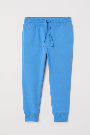 Cotton jersey joggers - Bright blue - Kids | H&M GB