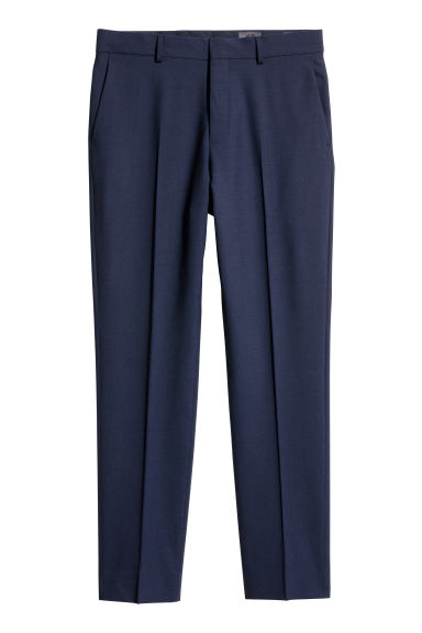 Wool suit trousers Regular fit - Dark blue - Men | H&M